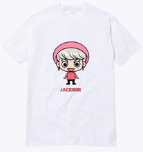 2016 summer simple white t shirt kpop got7 member cartoon image printing o neck short sleeve t-shirt plus size lovers tees