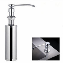 Save Space Bathroom Liquid Soap Dispensers Metal Kitchen Sink Soap Dispenser Cleaning Dish Detergent Storage Dispenser Holder