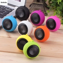 Kebidu Mini Hamburger Type Portable Speaker Music player Stereo Plug-in Audio Colourful Cute Design for Girl Child(China)