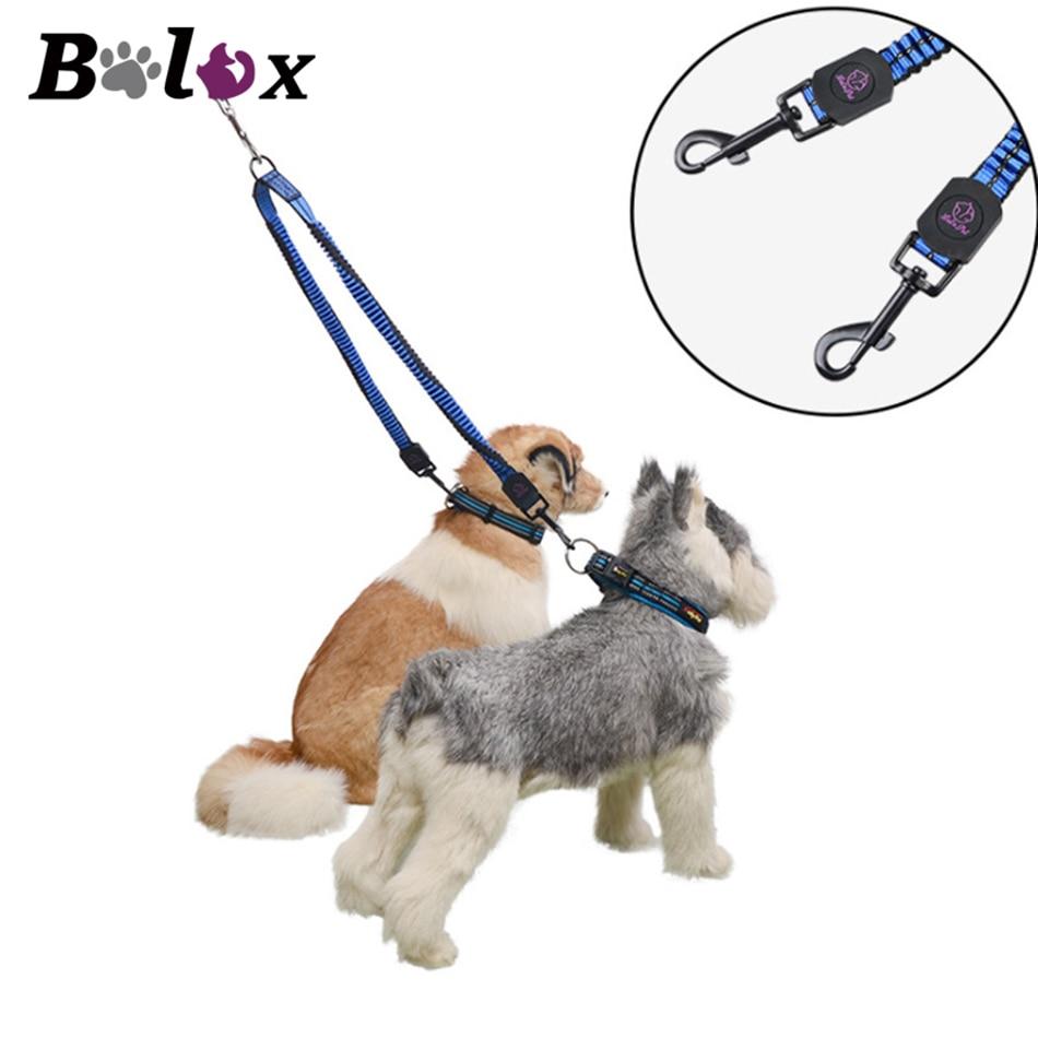 Dog Leash Travel Nylon Double Headed Leash Reflective Adjustable Dog Walking Rope for Two Dogs Training Safety Leash Pet Product