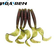5Pcs/lot 8cm 4.27g Soft Bait Fishing Shad Soft Worm Salt smell Swimbaits Jig Head Soft Lure Bass Fishing Bait Fishing Lures(China)