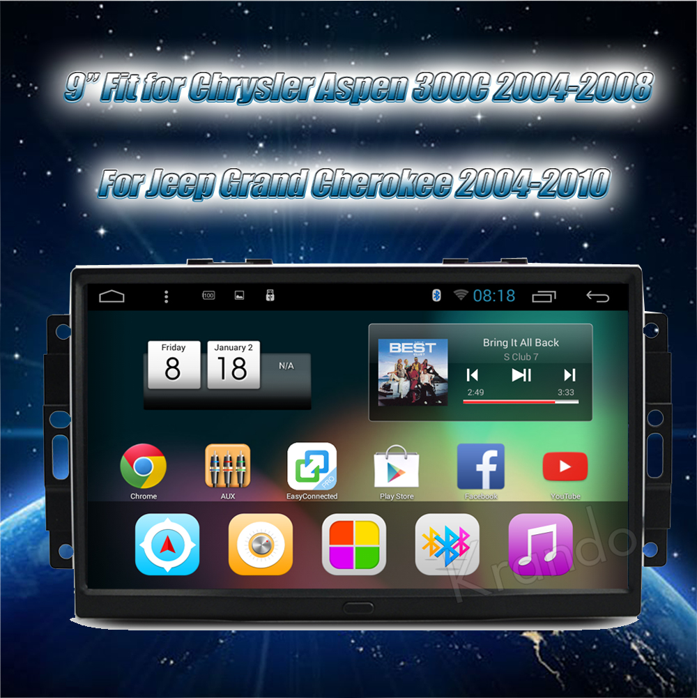 Krando chrysler 300C jeep cherokee Android car radio gps dvd player navigation multimedia system