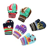 6 Color Infant Toddle kid Thick Knitted Baby Wants Warm Winter Children Gloves Animal Print Boy Girl Fingers Baby Accessories(China)