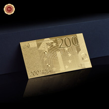 Nice Looking Style 200 Euro Gold Banknote 24KT Gold Foil Collector Rare Collection Gift