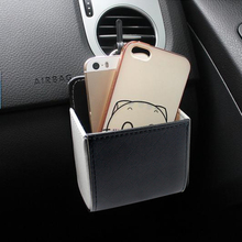 The automobile air outlet bag car mobile phone bag hanging bag storage bucket storage box storage box sundries canister(China)