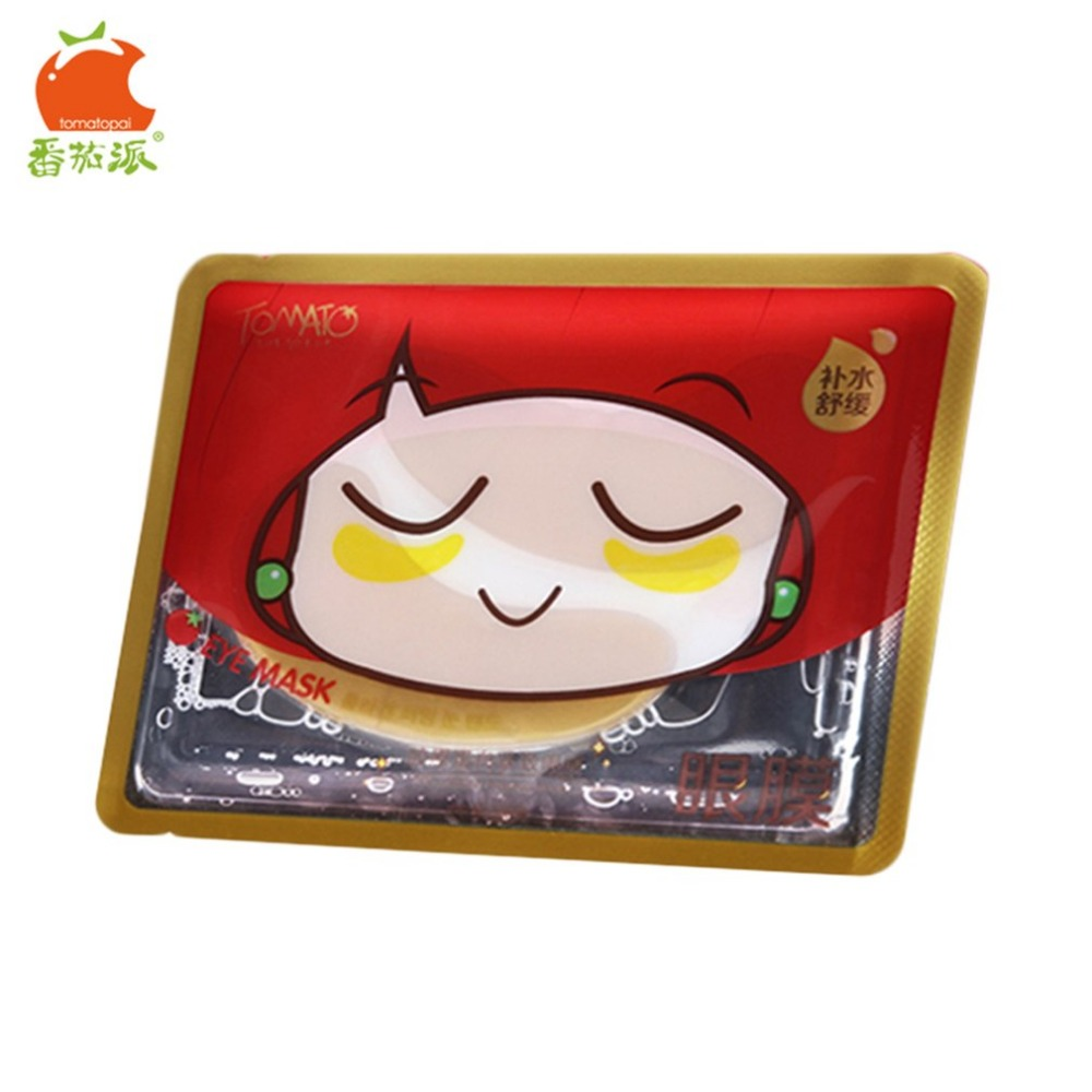 TOMATO PIE 140G Smooth Collagen Firming Moisturizing Eye Mask Gold Osmanthus Remove Dark Circles Skin Care Eye Masks Treatment 18