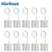 10pcs/lot Normally Closed Wired Door Window Sensor 330mm Wire Lengthen Randomly Magnetic Switch Home Alarm System NC Door Sensor