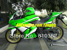 White Green Fairing kit for KAWASAKI Ninja ZX250R 2008 2010 2012 ZX 250R EX250 08 09 10 11 12 Injection mold Fairings set(China)