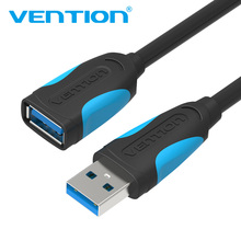Vention USB 3.0 Cable Super Speed USB Extension Cable 2.0 Male to Female 0.5m 1m 2m 3m USB Data Sync Transfer Extender Cable(China)