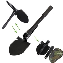 1 pc Hot Black Multifunction Folding Portable Camping Shovel Multifunction TOOL sports outdoor goods