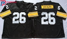 Embroidered Logo Rod Woodson 26 black Throwback high school FOOTBALL JERSEY for fans gift cheap 1108-31(China)