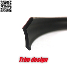 Car Bumper Lip Front Deflector Side Skirt Body Kit Rear Bumper Tuning Ture 3M High Quality Tape Lips For Proton Saga(China)