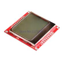 5pcs/lot  5110 LCD Black on Blue Background 84x48 Display for 8 Bit AVR/PIC Projects   Drop