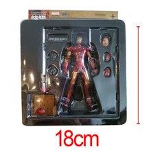 C&F Iron Man Anime Action Figure Toys Superhero Anthony Edward Stark Red Model Collectible Figures Toys For Gifts(China)