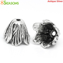8SEASONS Bead Caps Flower antique silver-color(Fits 22mm Beads) 20x18mm,Hole:Approx 2mm,10PCs (K10460)