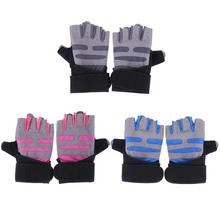Sports Gym Gloves Men Women Half Finger Anti-skid Silicone Weightlifting Fitness Training Workout Wrist Wrap Exercise Gloves(China)
