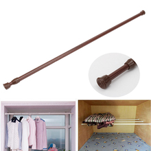 New Adjustable Retractable Bathroom Shower Curtain Rod Spring Loaded Extending Telescopic Poles Rail Hanger 60-110cm