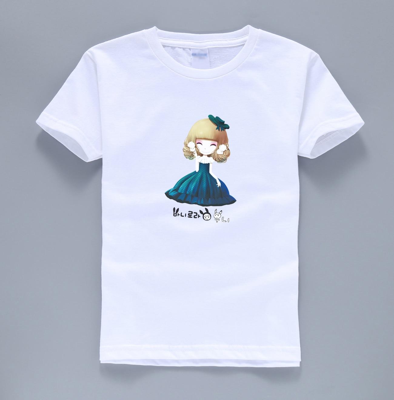 2017 summer girls tops t shirts brand cute kawaii streetwear homme kids shirts funny short sleeve o neck color children t-shirts