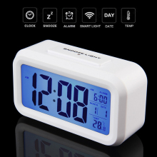 2016 LED Alarm Clock Temperature Sounds Control LED display electronic desktop Digital table Blue Light