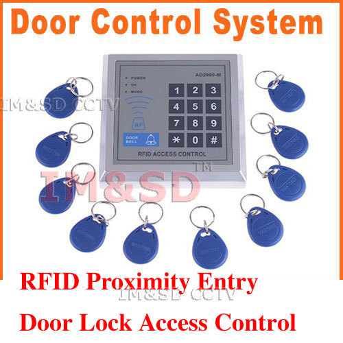 freeshipping, Dropshipping RFID Proximity Entry Door Lock Access Control System with 10 Key Fobs<br><br>Aliexpress