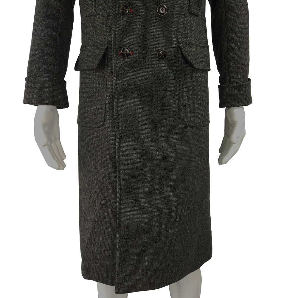 Cosplay Sherlock Holmes Cape Coat Costume Wool Long Jacket Outfit With Scarf New11