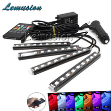 1Set Interior Car LED Neon Lamp For Audi A3 BMW E90 E39 E36 Volvo S60 Ssangyong Subaru XV Fiat Punto Kia Sportage 3 Accessories