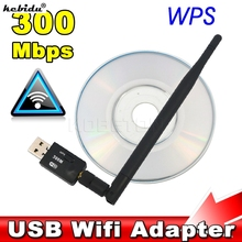kebidu 300 Mbps USB Wifi Adapter USB 2.0 Wireless 2.4GHz Network Lan Card Antenna For Windows XP/Vista/7 Linux for Mac OS X(China)