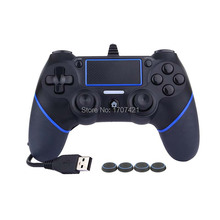 Wired Controllers for PS4 Controller USB Gamepads Vibration Wired USB Joystick Gaming for PlayStation 4 Gamer(China)