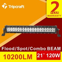 Factory Price  21INCH 120W offroad led light bar Spot/Flood/Combo Truck Boat Ute Car SUV ATV Work Light Bar 4WD 12v 24v car led