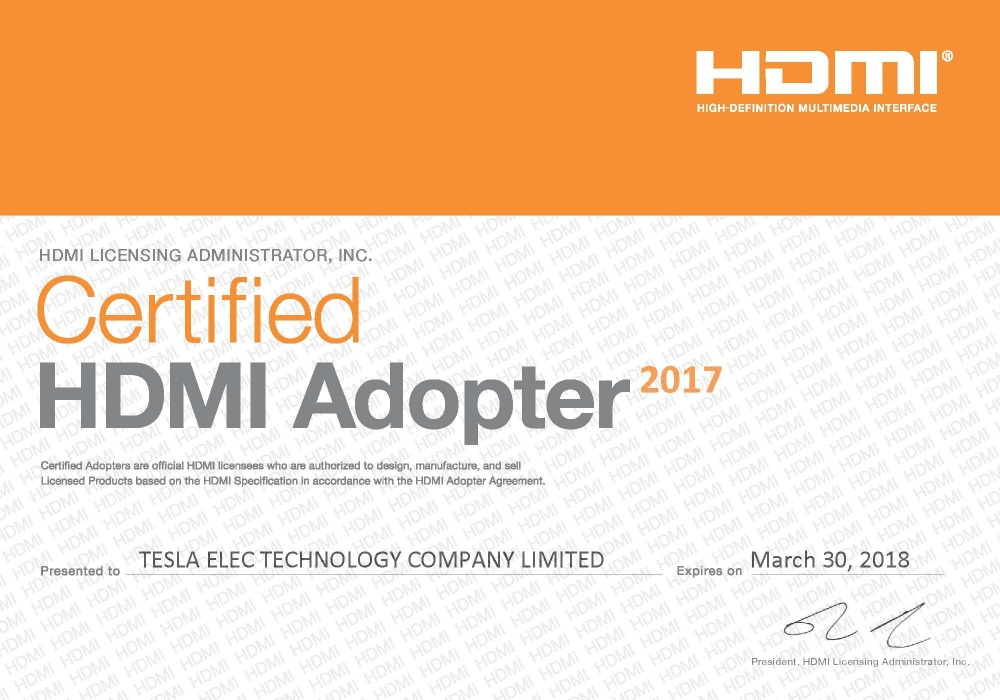HDMI Certification