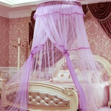 2017 Limited Adults Hot Canopy Bed Curtains Luxury Dome Mosquito Net Romantic Mosquiteiros Round Dossel Adult Curtain Netting(China)