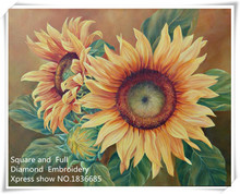 Painters Sunflowers,Needlework Diamond Embroidery,Series 5D Rhinestones Painting Pattern,crafts Diamond Painting Cross Stitch