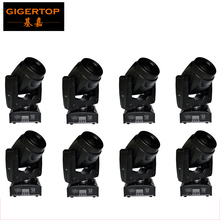 Freeshipping 8 Unit Professionals DJ Equipment 60W Led Mini Moving Head Spot Light 3 Facet Prism LCD Display Auto Switch Off