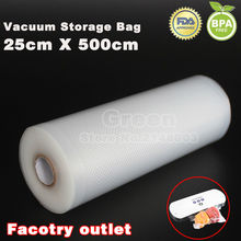 (3 Rolls/ Lot ) 25cm x 500cm Vacuum Heat Sealer Food Saver Bags Storage Bags Keeps Fresh up to 6x Longer