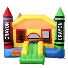 Deliver From USA New Inflatable Crayon Bounce House Castle Jumper Moonwalk Bouncer Without Blower 420D Oxford(China)