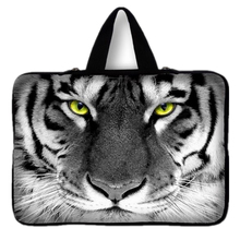 Women Tiger Handle Laptop Bag 7 10 12 13 14 15.6 17 inch Computer Bag PC Sleeve Bag Case Notebook Tablets Protector Pouch #1 #D