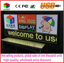 P6 Outdoor  RGB full-color LED display size 25x 55 inches advertising video,image and  text  led sign