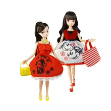 BDCOLE- 4 Items/Set Handmade High Quality Top Fashion BJD Doll Dress Lovely Cartoon Theme Clothes For Barbie Best Girls' Gift(China)
