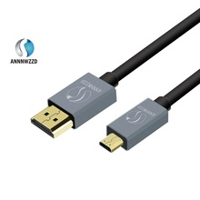 Micro HDMI Cable Micro HDMI Type D to HDMI Type A High Speed Cable with Ethernet Gold Plated Support 3D 4K Audio Return Channel(China)