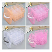 Jewelry Packaging & Display Plastic Slots Adjustable  Box Case Craft Organizer Beads Container for Designer DIY Gift