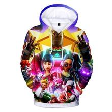 2018 Battle Royale Hoodies Men Rainbow Smash Pony Horse Printed Hooded Sweatshirt Kids Hoodies 3D Popular Game Casual Streetwear