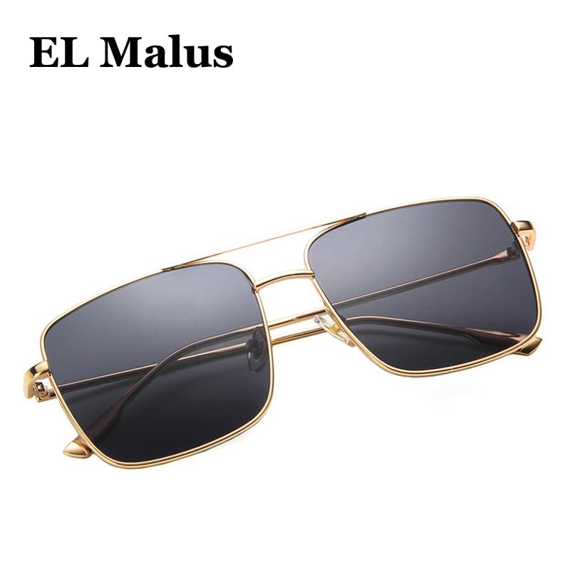 Sunglasses Men Square Metal Frame Sun Shades Eyewear Summer UV400