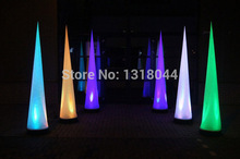 Colorful lighting led event party decoration inflatable cone with remote controller