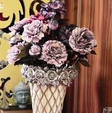 Artificial Peony Flowers High Simulation Peony Bouquet Artificial Flowers Leaf Floral Home Decoration