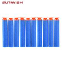 Surwish Pack of 10 Dart Refills Sucked Head Type Foam Bullets for Nerf Toy Gun - Light Blue + Red(China)