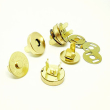 10Set Gold Magnetic Snap Fasteners Clasps Buttons Handbag Purse Wallet Craft Bags Parts Accessories 14mm