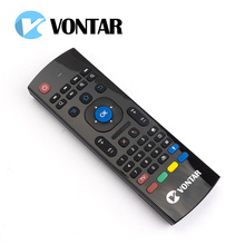 VONTAR MX3 2.4G Wireless air fly mouse 3 in 1 Qwerty Gyro sensing IR learning Keyboard with microphone or not for android tv box(China)