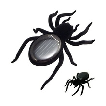 Children Creative Black Durable Mini Spider Tarantula Trick Toy Educational Robot Scary Insect Gadget Solar Power Spider Toy