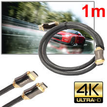 1/1.5/2/3/5 M Ultra HD HDMI 19pins Male - 19pins Male Gold Cable v2.0 High Speed + Ethernet HDTV 2160p 4K 3D GOLD L3FE(China)