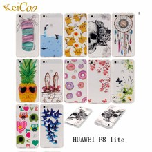 P8Lite Cool Pattern Mobile Phone Covers For HUAWEI P8 Lite ALE-L21 ALE-L04 P8 Lite Dual Sim 5.0 Back TPU Silicon Cases Man Women